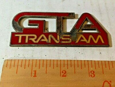 $19.99 • Buy 1987 - 1990 Pontiac Firebird Trans Am GTA Fender Badge - Flame Red Mettalic/Gold