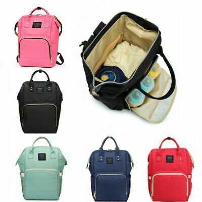 Baby Mummy Bag Changing Diaper Nappy Bag Travel Backpack Large Multi-Function UK • 13.99£