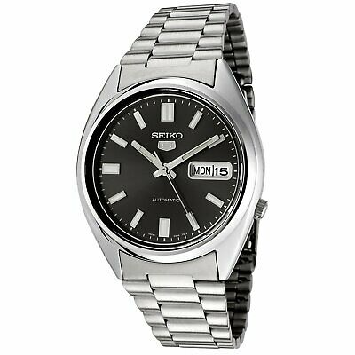 $ CDN199.06 • Buy Seiko 5 Mens Automatic Watch SNXS79 With Black Dial And Silver Stainless Stee...