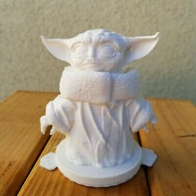 $28 • Buy Cute Mini Baby Yoda From Mandalorian Figurine White Paintable