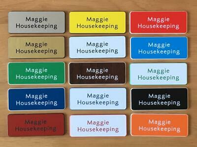 £2.76 • Buy Engraved  Personalised Staff Name Badges, Shop Clubs Pub School Office-