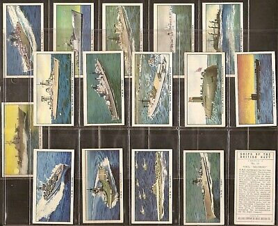 Kelloggs-full Set- Ships Of The British Navy (16 Cards) - Exc • 9.99£