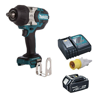 MAKITA 18V LXT DTW1002 IMPACT DRIVER, BL1840 BATTERY DC18RC 110v CHARGER • 303.99£