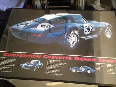 Competition Corvette Grand Sport #50 - Chassis #0004 Car Poster • 9.99$