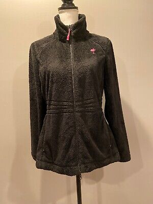 Lilly Pulitzer Womens Black Fleece Maddie Jacket Full Zip Size Medium • 34.99$