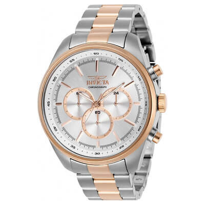 Invicta Men's Watch Specialty Chrono Silver Tone Dial Two Tone Bracelet 29167 • 47.27£