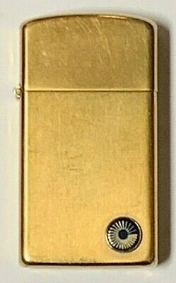 Vintage Zippo 1970s Slim Lighter | 10K Gold Filled | Original Box And Pouch |  • 35$