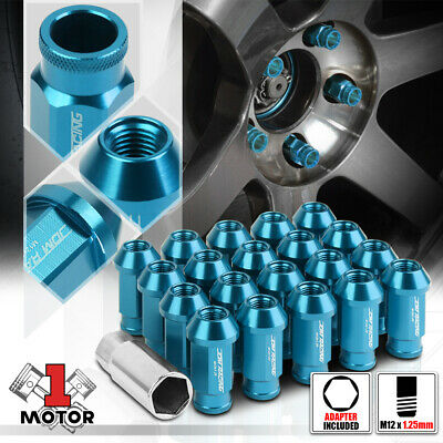 $18.96 • Buy (20)Baby Blue Aluminum M12x1.25 50mm Open End Knurled Tip Extended Wheel Lug Nut