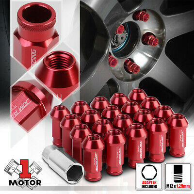 $18.98 • Buy (20)Red Aluminum M12x1.25 50mm Open End Knurled Tip Extended Tuner Wheel Lug Nut