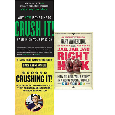 AU50.28 • Buy Crushing It!,Crush It!,Jab,Jab ,Jab Right Hook 3  Books Collection Set NEW