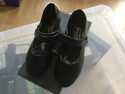 £15 • Buy Tap Dancing Shoes For Girls Black Basic Toe Tap Easy Fastening Size 7 Small BNIB