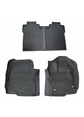 2015-2018 Ford F-150 Super Crew Cab All Weather Rubber Floor Mats Black OEM NEW • 100$