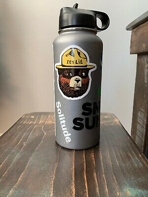 $40 • Buy Hydro Flask 32 Oz Wide Mouth Straw Lid With Stickers
