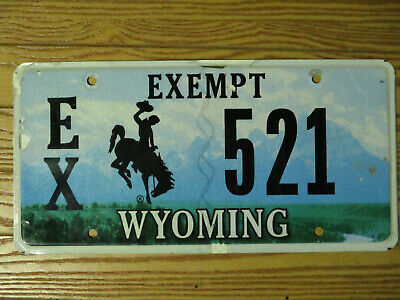 Wyoming Tax Exempt License Plate Local Government & Police • 9.99$