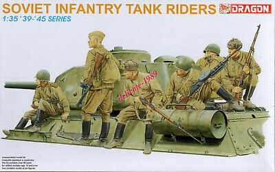 Dragon 6197 1/35 WWII Soviet Infantry Tank Riders (6 Figures) 2019 • 19.79£