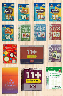 123 Numbers ABC Letters Animals Colours & Shapes Wipe Clean Flash Cards Age 3-5 • 7.99£