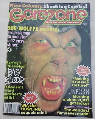 GOREZONE MAGAZINE ISSUE #19 Fall 1991! SHE-WOLF! BABY BLOOD! THE UNBORN! POSTER • 9.99$