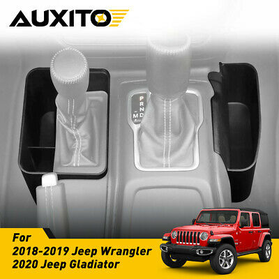 $18.99 • Buy For Jeep Wrangler JL JLU 2018-19 Pair Gear Shift Console Side Storage Box Tray R