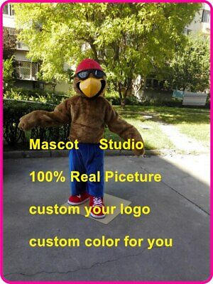 Brown Eagle Mascot Costume Suit Cosplay Party Game Dress Unisex Halloween Adults • 229.40£