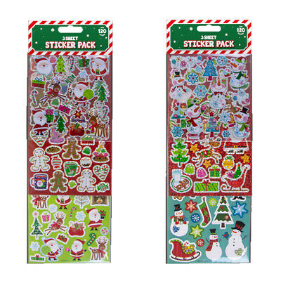£2.99 • Buy 120 Christmas Stickers Party Bag Fillers Christmas Eve Box Toy Filler 3 Sheets