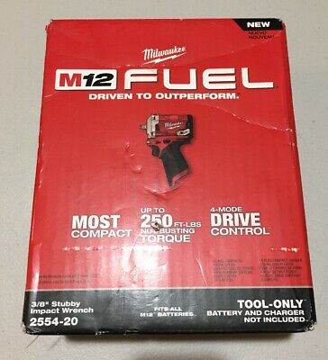 Milwaukee 2554-20  FUEL Brushless 3/8 In. Stubby Impact Wrench  New (Bare Tool) • 157.99$