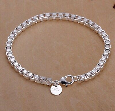 $2.99 • Buy 925 Sterling Silver Women's Box Link Chain Bracelet