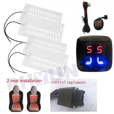 $ CDN77.46 • Buy 12V 2 Seats 4 Pads Heated Seat Heating Heater Pads + Digital 5 Level Switch