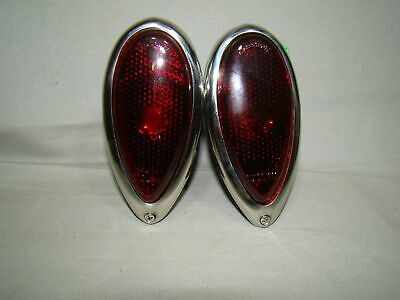 $49.98 • Buy 1938 1939 Ford Tail Light Assemblies 38 39 Ford Taillight Tear Drop Tail Lights