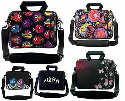 10  10.1  Netbook Laptop Case Bag Cover Pouch Skin With Handle & Shoulder Strap • 10.99£