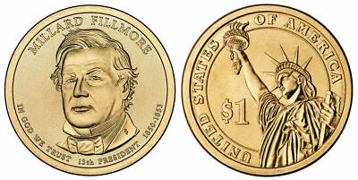 $2.80 • Buy 2010 P Millard Fillmore Presidential One Dollar Coin From U.S. Mint Money Coins