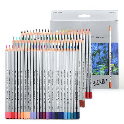 24/36/48/72 Color Fine Oil Pastel Pencils Set For Artist Sketching Drawing Free • 25.42£