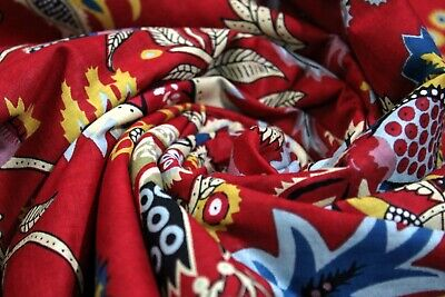 Home Furnishing Decorative Sewing Fabric By The Meter Hand Printed Cotton Fabric • 29.99£