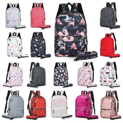 Boys Girls Retro Backpack Rucksack School College Travel Laptop Canvas Bag UK • 11.49£
