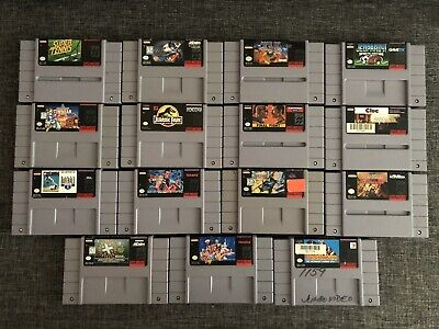 $ CDN160 • Buy Lot Of 15 SNES (Super Nintendo) Games: Batman, Final Fight, Fatal Fury And More!