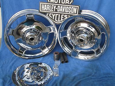 $899.99 • Buy Harley FLH ROAD GLIDE WHEELS FLHX CHROME AIR STRIKES RIMS FIT 09 & Later Touring