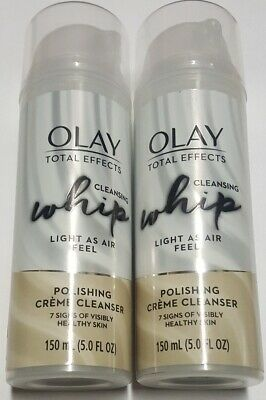 $15.99 • Buy Olay Total Effects Cleansing Whip Facial Cleanser 5 Oz (150ml) X 2