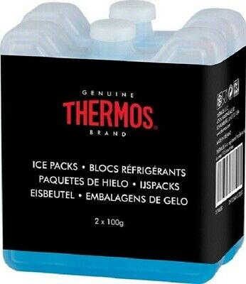 Thermos 2x100 Mini Ice Freezer For Insulated Cool Bag Lunch Boxes Travel Block • 4.69£