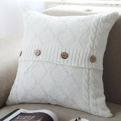 Knit Knitted Soft Throw Cushion Covers Home Decor Lounge Pillow Case J • 6.87£
