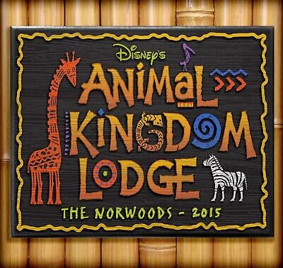$49.95 • Buy ANIMAL KINGDOM LODGE SIGN Personalized Disney World Reproduction Plaque 8  X 10