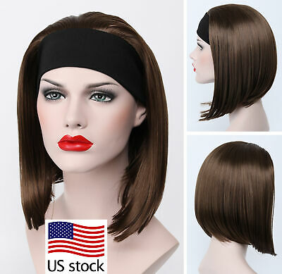 $18.79 • Buy Medium Golden Brown 3/4 Full Half Headband Wig Women Everyday Daily (US Stock)