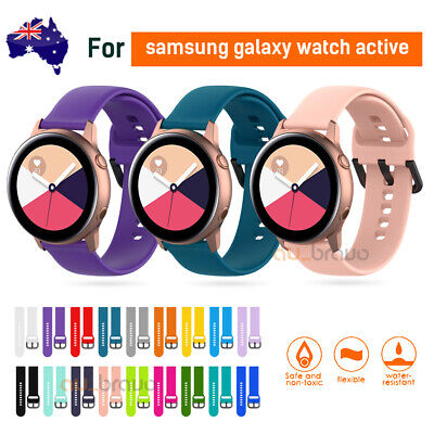 AU6.79 • Buy For Samsung Galaxy Watch Active 2 Replacement Silicone Sport Wrist Band Strap