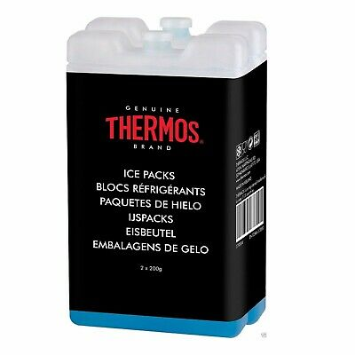 Thermos 2x200 Mini Ice Freezer For Insulated Cool Bag Lunch Boxes Travel Block • 6.72£