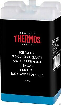 Thermos 2x400 Ice Block For Insulated Cool Bag  Travel Freezer Reuseable Board • 6.72£