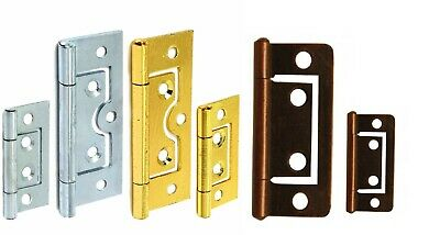 "LARGE SET 10x LOOSE PIN HINGES 3/""//75mm  Chrome Door Cabinet//Cupboard Frame Hang"