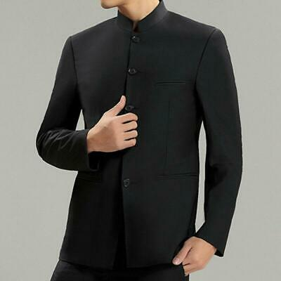 $37.39 • Buy Mens Stand Collar Chinese Formal Dress Traditional Black Suit Tang Jacket MOON