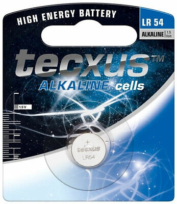 AU2.95 • Buy TECXUS LR54 1.5V Alkaline Button Cell Watch Battery 189 G10A RW89 L1131 390