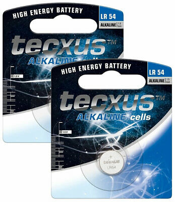 AU3.48 • Buy 2 X TECXUS LR54 1.5V Alkaline Button Cell Watch Battery 189 G10A RW89 L1131 390