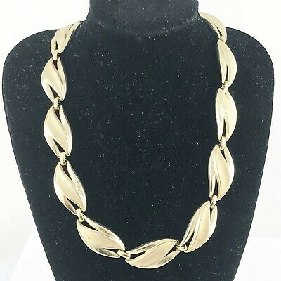 """Vintage Gold Tone Signed Trifari  Choker Necklace Approx 13"""" • 19.99£"""