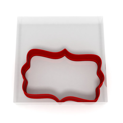 8CM Plaque Cookie Cutter Biscuit Dough Icing Shape Cake Sign Topping Fondant • 3.99£
