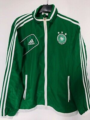Germany EURO 2012 Track Jacket Adidas Full Zip Training Top Size S-M Deutschland • 30£